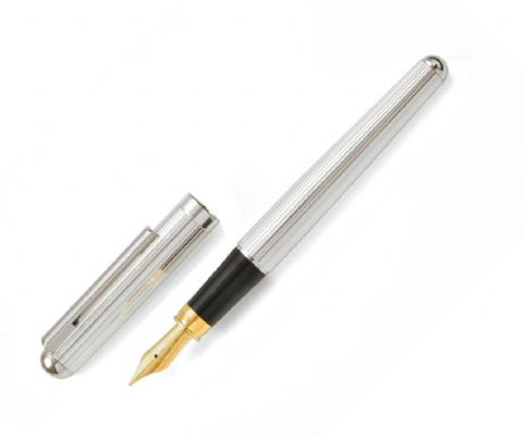 Sterling Silver Fountain Pen - Bath - Fine Line Sterling Silver